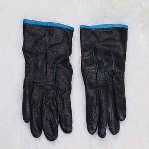 Ann Taylor black leather gloves